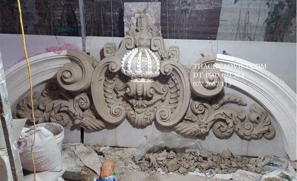 Bán Phù Điêu Đúc Sẵn Giá Xưởng – Mặt tiền cổ điển – Phù điêu cổ điển – Thạch Cao Việt